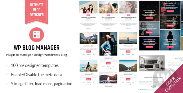 WP Blog Manager v2.0.1 – 创建WordPress博客布局插件