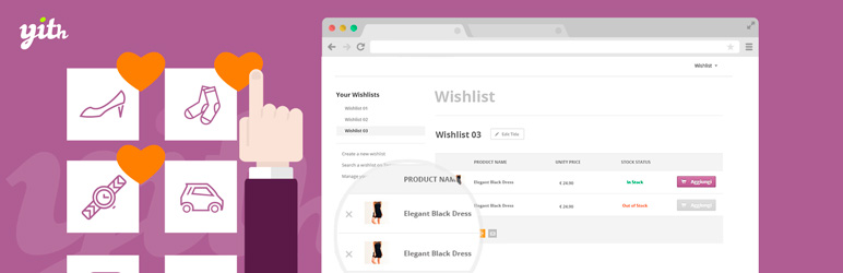 YITH WooCommerce Wishlist 心愿单收藏夹