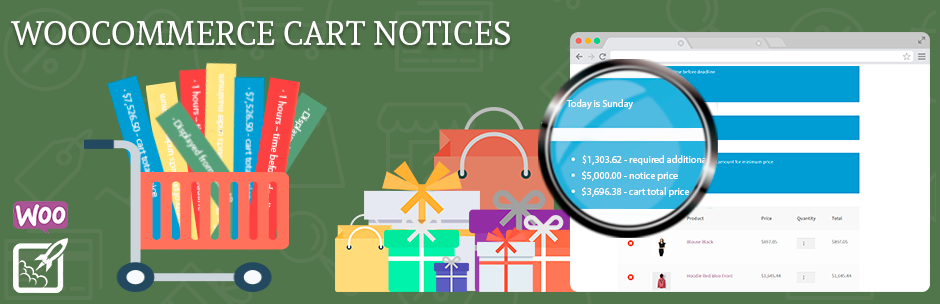 Cart Notices for WooCommerce 购物车通知